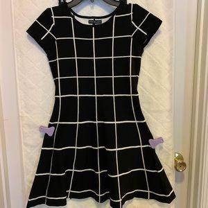 Grid Pattern Dress